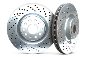 CHROMEBRAKES DRILLED ROTORS (SILVER), 12-14 HONDA CIVIC SI