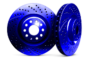 CHROMEBRAKES DRILLED ROTORS (BLUE), 12-14 HONDA CIVIC SI