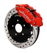 WILWOOD 6-POT DRILLED BIG BRAKE KIT (RED), 12-15 HONDA CIVIC SI