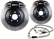 STOPTECH 4-POT HPD RACING BRAKE KIT (BLACK) 12-15 HONDA CIVIC SI