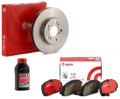 BREMBO OEM ROTORS & PADS COMBO BRAKE KIT, 12-15 HONDA CIVIC SI