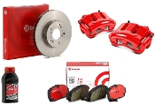 BREMBO SPORTS ROTORS & PADS REAR BRAKE KIT, 12-15 HONDA CIVIC