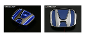 J'S RACING GLOW EMBLEM (BLUE),12-15 HONDA CIVIC 4DR REAR