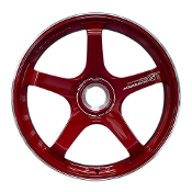 "20"" ADVAN GT CENTERLOCK PORSCHE FORGED WHEELS, RED (SET OF 4)"