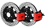 WILWOOD DRILLED REAR BRAKE KIT (RED), 12-15 HONDA CIVIC SI