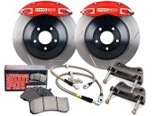 STOPTECH 4-POT BBK BIG BRAKE KIT (RED), 16-19 HONDA CIVIC FK7